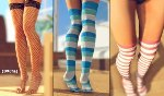 Schoolgirl chaussettes sexy colores